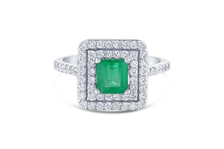 1.84 Carat Emerald Diamond Engagement Ring 2