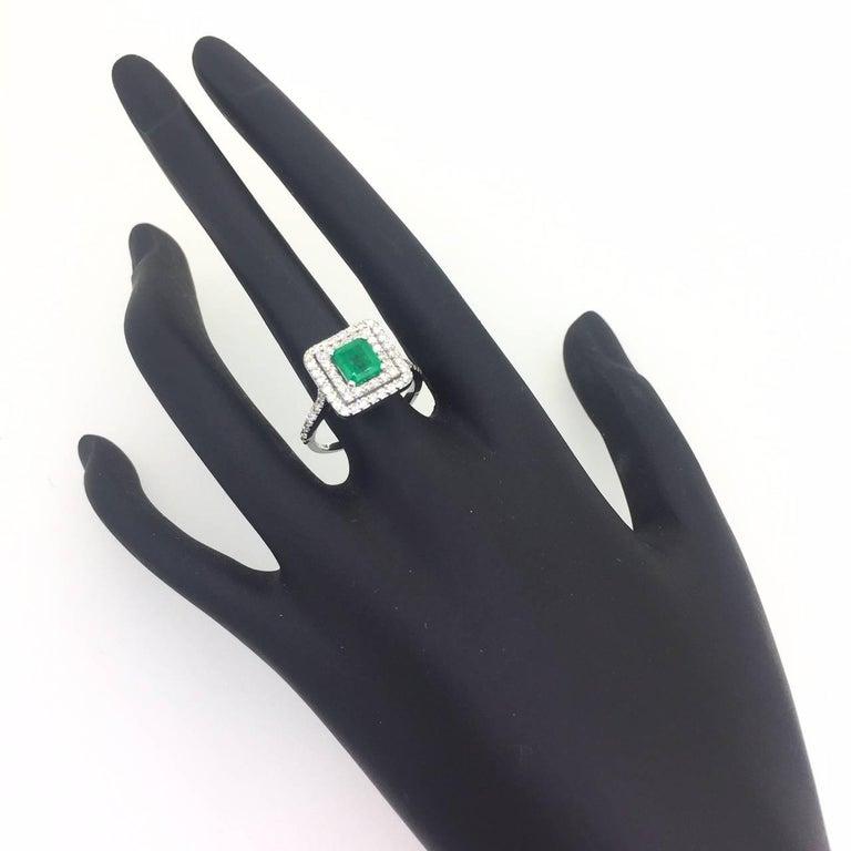 1.84 Carat Emerald Diamond Engagement Ring 4