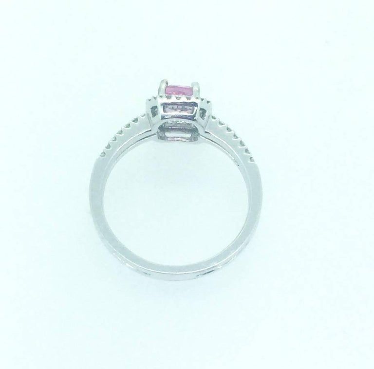 Modern GIA Certified Pink Sapphire Diamond Ring For Sale