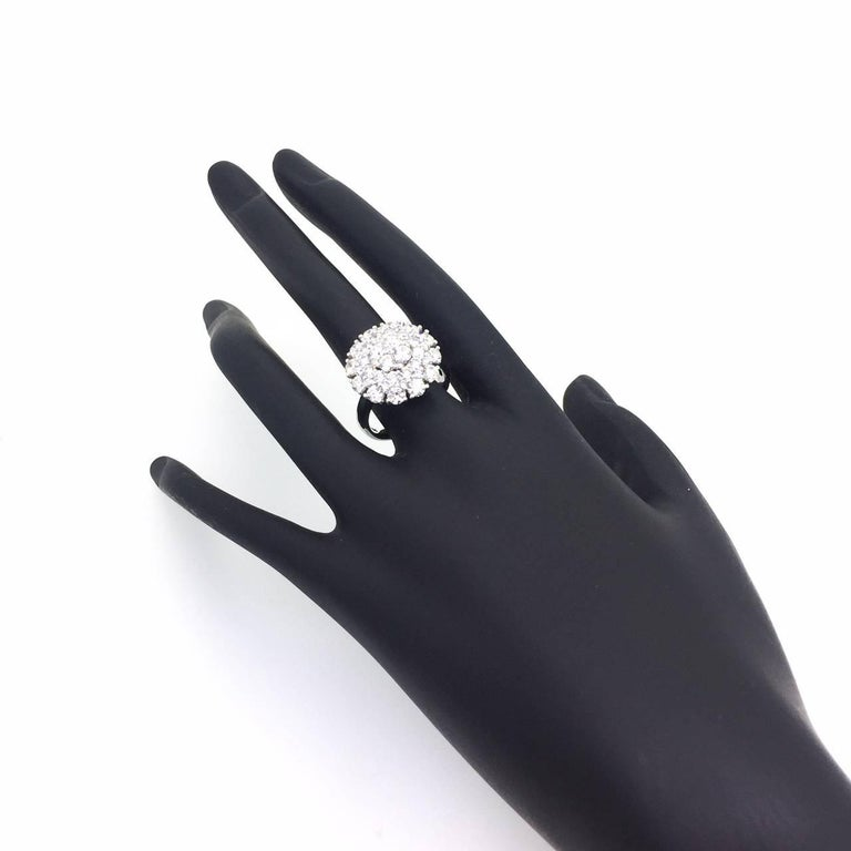 Modern 2.67 Diamond Cocktail Dome Ring For Sale