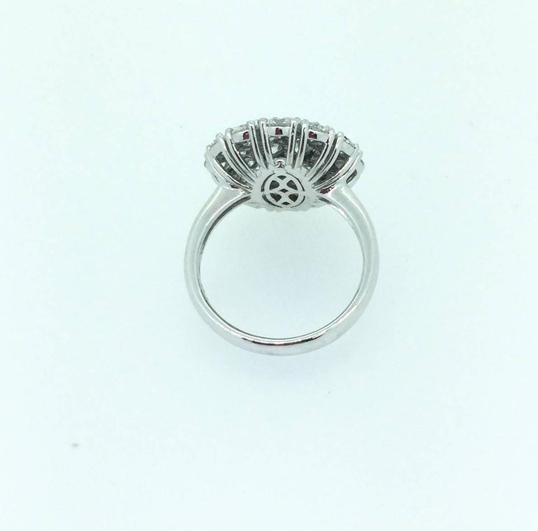 Round Cut 2.67 Diamond Cocktail Dome Ring For Sale