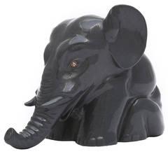 Faberge Kalgan Jasper Circus Elephant Sculpture