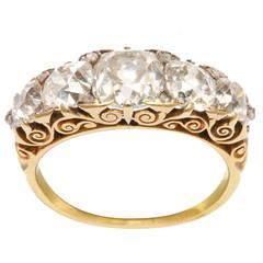 Victorian Half-hoop Diamond Ring
