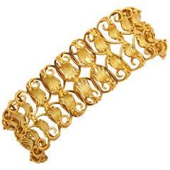 Georgian Woven Gold Bracelet