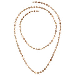 Diamonds by the Yard Multi-Color Diamond Rose Gold Necklace