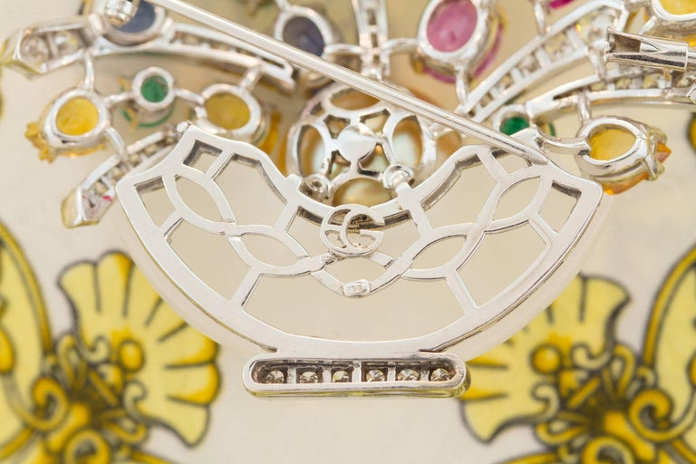 Ella Gafter Sapphire Ruby Emerald Pearl Diamond Flower Basket Brooch Pin For Sale 5