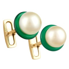 Ella Gafter Golden Pearl Lady's Cufflinks
