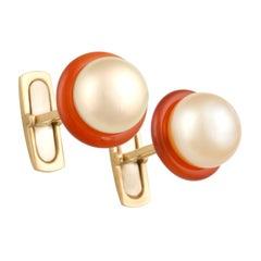 Ella Gafter Golden Pearl Ladies Cufflinks