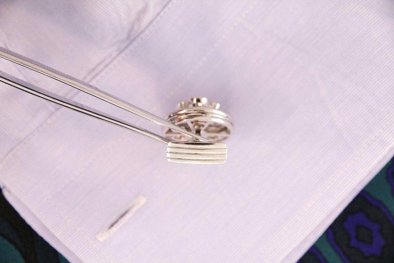 Women's Ella Gafter Blue Sapphire Diamond Cufflinks  For Sale