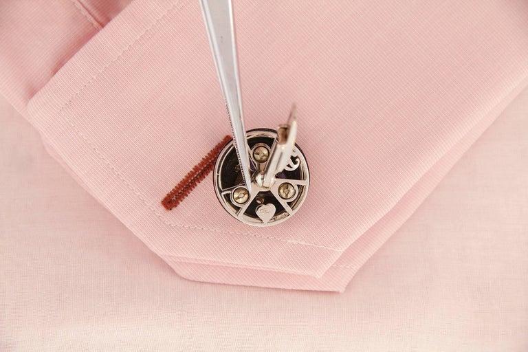 Pear Cut Ella Gafter Ruby Sapphire Cufflinks  For Sale