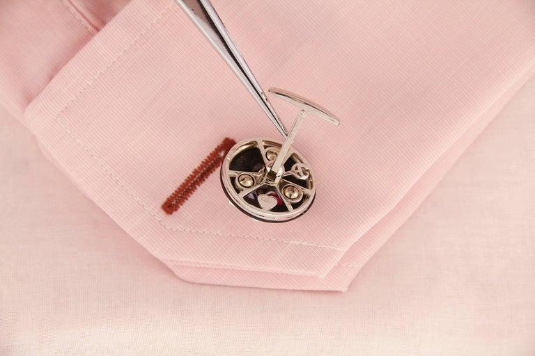 Men's Ella Gafter Ruby Sapphire Cufflinks  For Sale