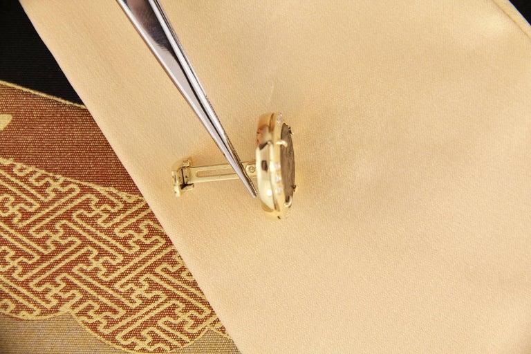 Ella Gafter Diamond Copper Coin Cufflinks  For Sale 1