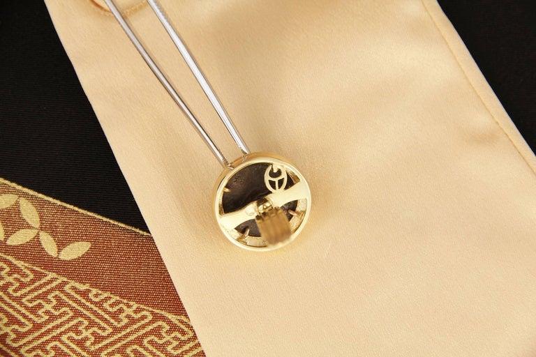 Ella Gafter Diamond Copper Coin Cufflinks  For Sale 3