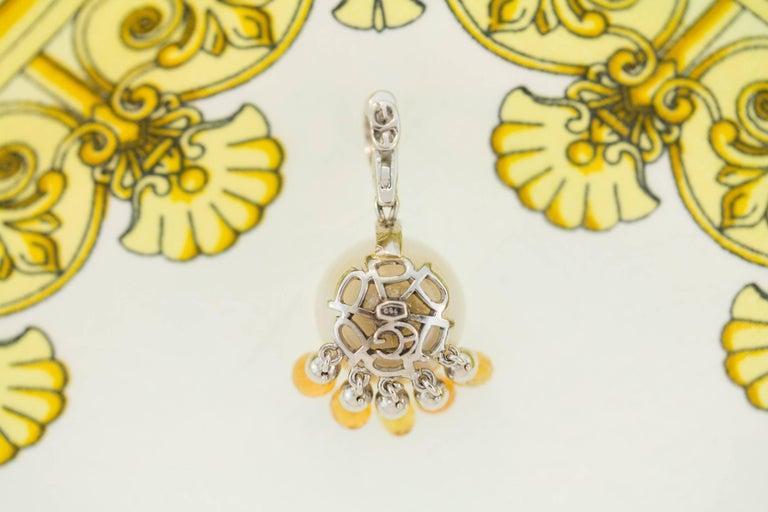 Contemporary Ella Gafter South Sea Pearl Sapphire Diamond Pendant Necklace For Sale