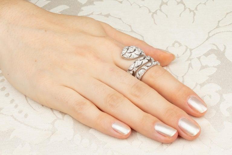 Ella Gafter Diamond Snake Cocktail Ring For Sale 1