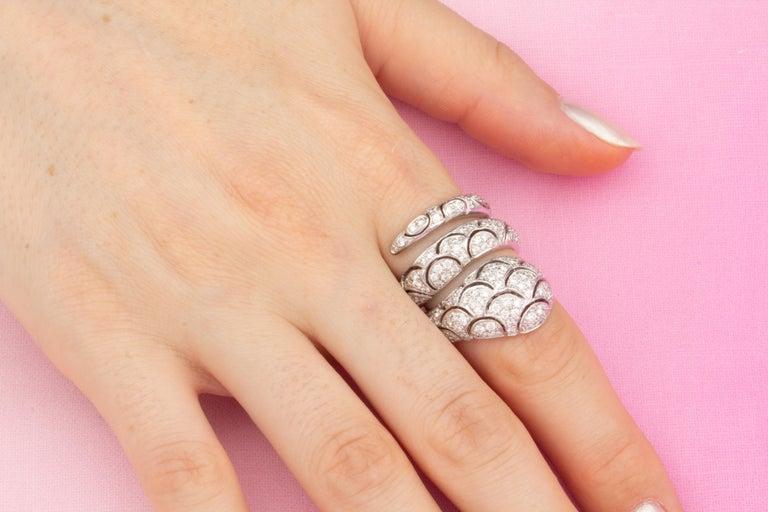 Ella Gafter Diamond Snake Cocktail Ring For Sale 2