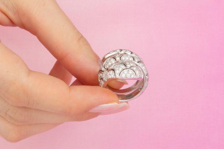 Ella Gafter Diamond Snake Cocktail Ring For Sale 4