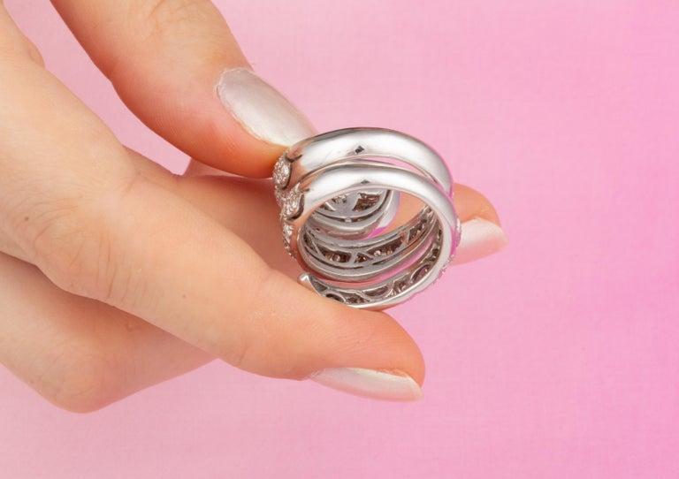 Ella Gafter Diamond Snake Cocktail Ring For Sale 9
