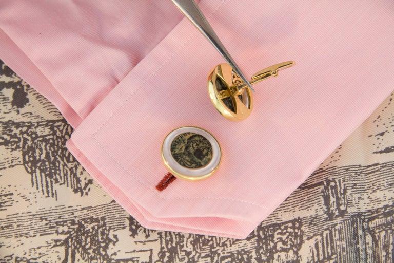 Ella Gafter Copper Coin Gold Cufflinks  For Sale 1