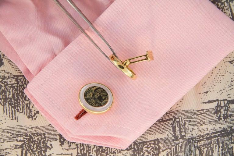 Ella Gafter Copper Coin Gold Cufflinks  For Sale 2