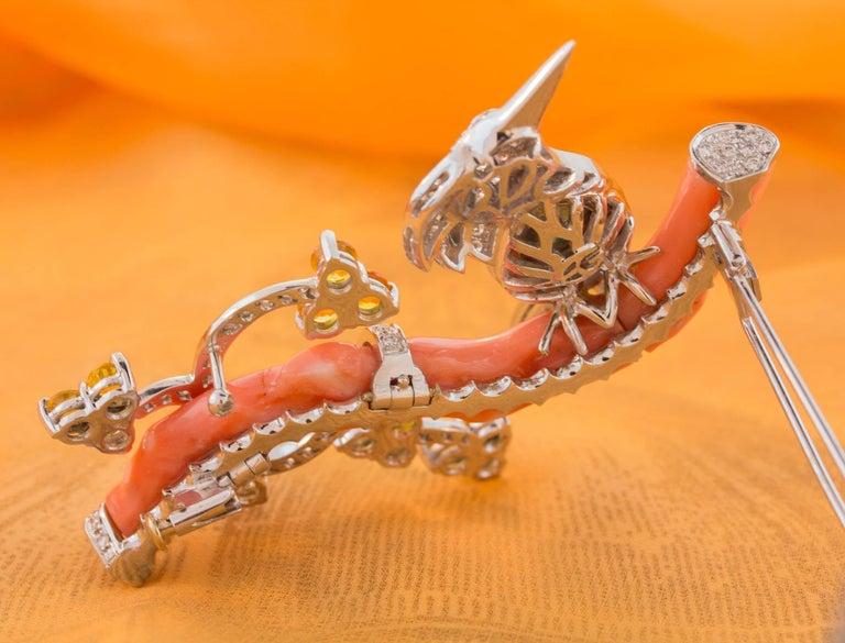 Ella Gafter Love Bird Diamond Sapphire Brooch Pin  For Sale 9