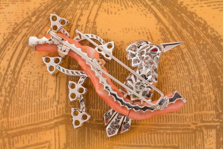 Ella Gafter Love Bird Diamond Sapphire Brooch Pin  For Sale 4