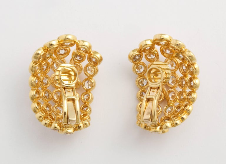 Contemporary Cartier Diamond Clip-On Earrings For Sale