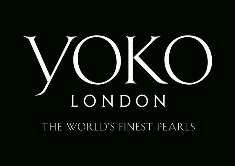 Round Cut Yoko London Pearl and Diamond Pendant set in 18 Karat White Gold  For Sale