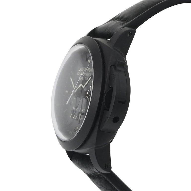 Panerai Ceramic Luminor Wristwatch Ref PAM00317, 1950 In Excellent Condition For Sale In Boca Raton, FL