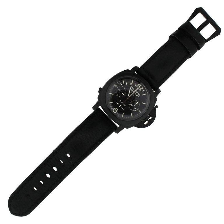 Panerai Ceramic Luminor Wristwatch Ref PAM00317, 1950 For Sale 1