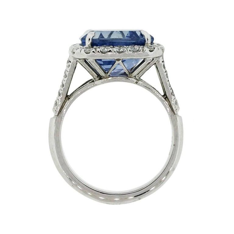 AGL Certified 8.13 Carat Ceylon Sapphire Diamond Ring 2