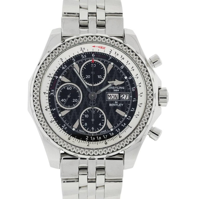 Breitling Stainless steel Bentley Automatic Wristwatch Ref A123362