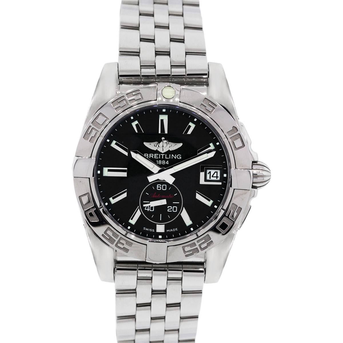 Breitling Stainless steel Galactic Automatic Wristwatch Ref A37330