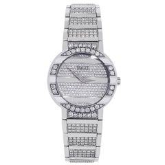 Piaget Ladies White Gold All Diamond Polo 25th Anniversary Quartz Wristwatch