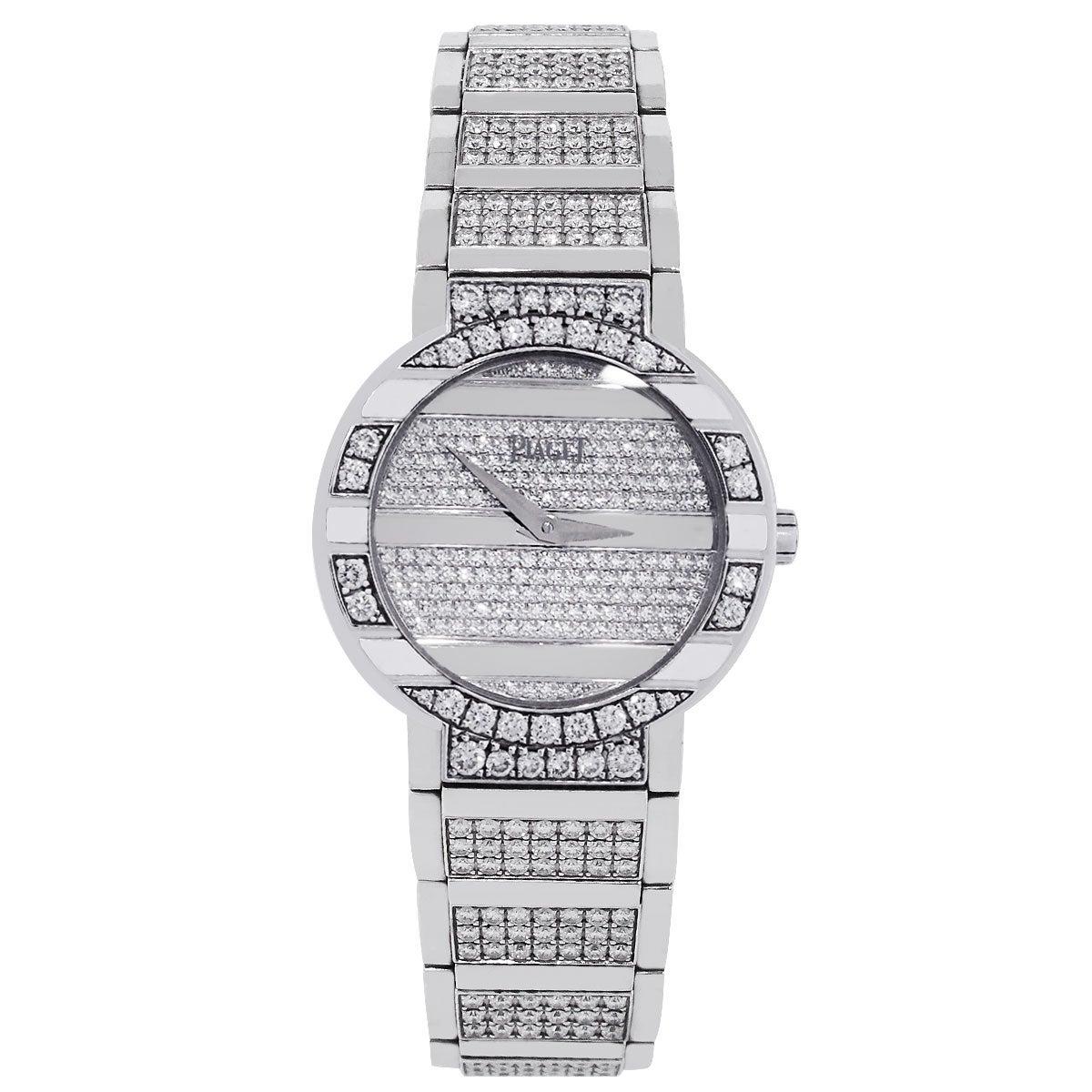 Piaget Ladies White Gold All Diamond Polo 25th Anniversary Quartz Wristwatch