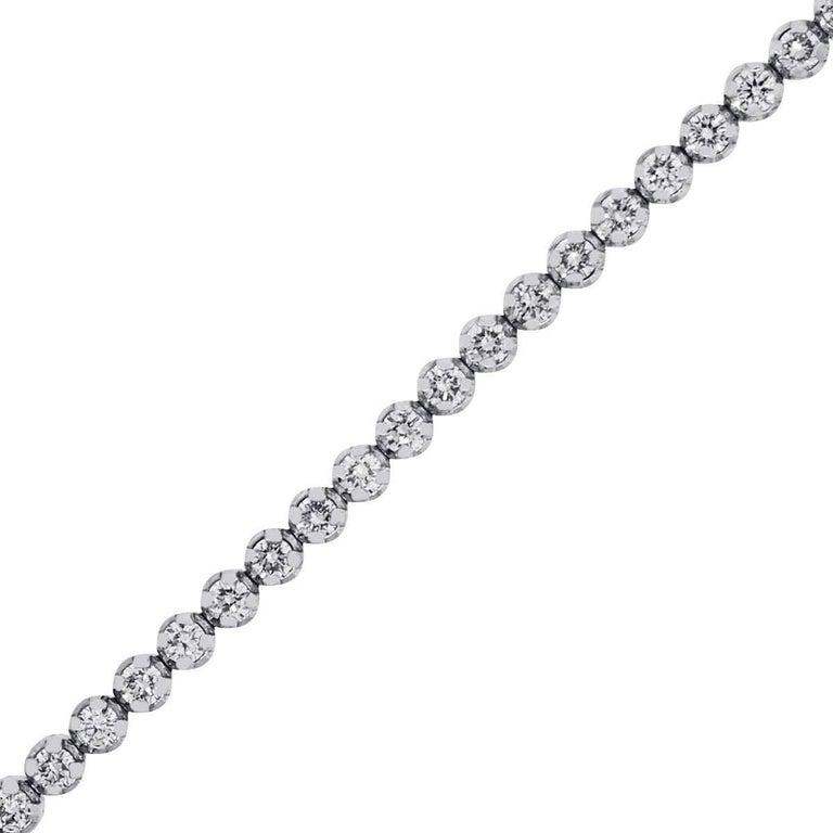 Round Brilliant Prong Set Diamond Tennis Bracelet