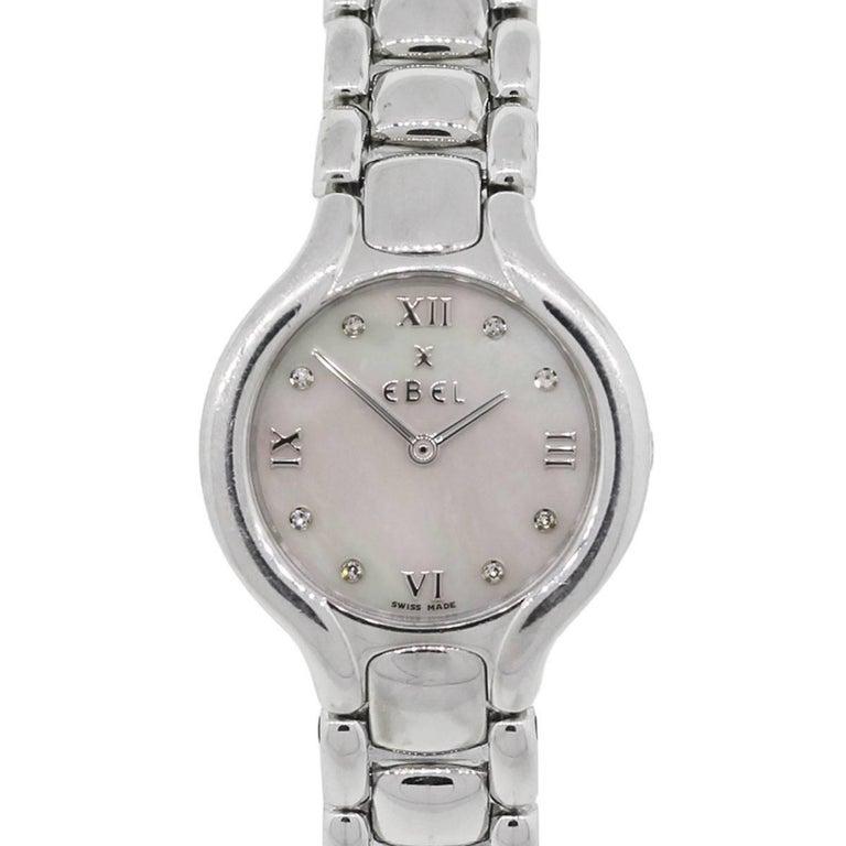 Ebel E9976-11 Beluga Mother-of-Pearl Diamond Dial Wristwatch