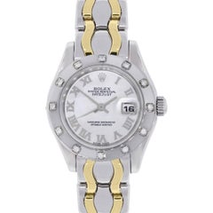 Rolex white gold Datejust Pearlmaster Automatic Wristwatch Ref 80319