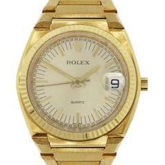 Rolex yellow gold Vintage Texano 989 of 1000 Quartz Wristwatch Ref 5100