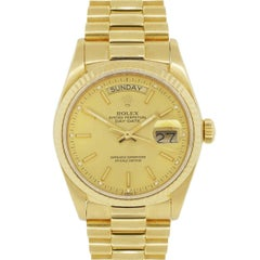 Rolex yellow gold Day Date Presidential Automatic Wristwatch Ref 18038