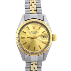 Rolex Ladies Two-Tone Date Automatic Wristwatch, Ref 6917
