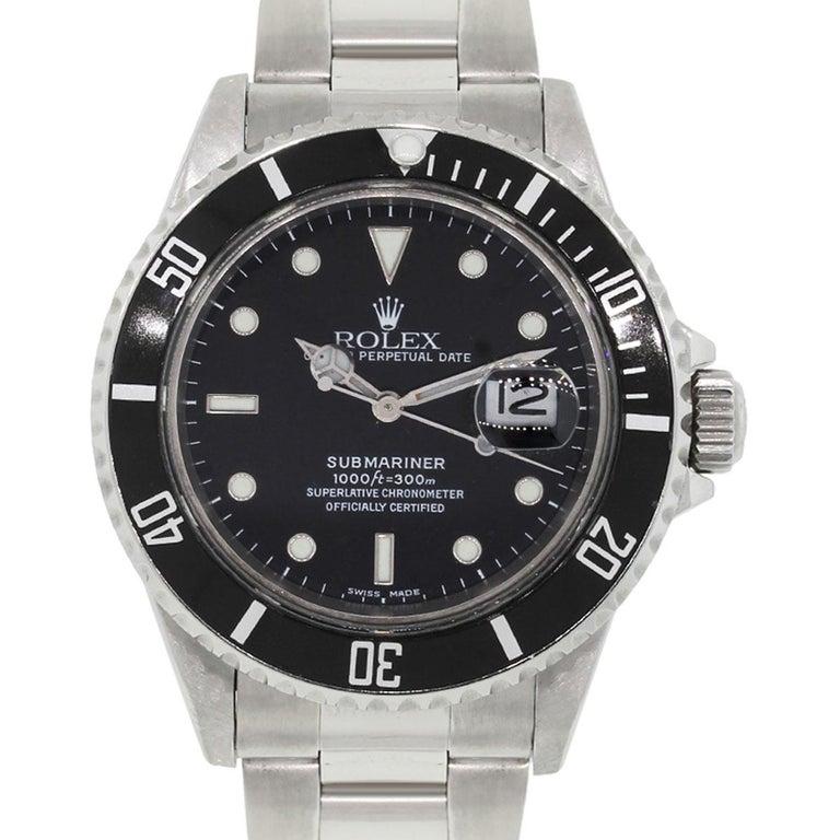 Rolex Stainless Steel Submariner Automatic Wristwatch Ref 16800