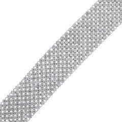 Round Diamond Wide Mesh Bracelet