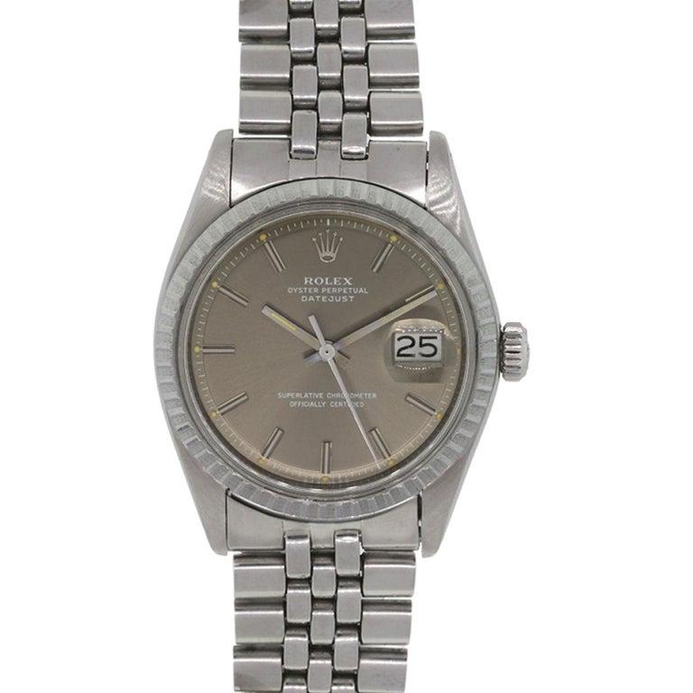 Rolex Stainless steel Datejust Automatic Wristwatch Ref 1601