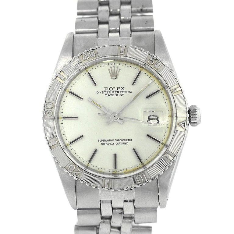 Rolex Stainless Steel Thunderbird Datejust Automatic Wristwatch Ref 1625