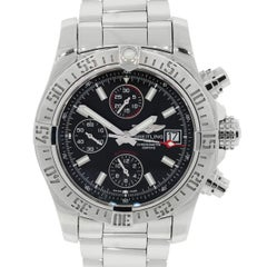 Breitling Stainless Steel Avenger II Chronomat GMT Ltd Ed Automatic Wristwatch