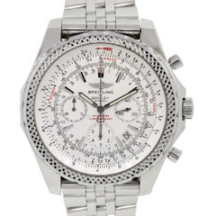 Breitling Stainless Steel Bentley Chronograph Automatic Wristwatch Ref A25362