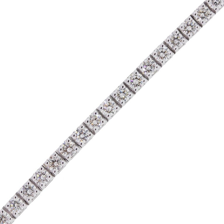 4.75 Carat Total Weight Round Brilliant Diamond Tennis Bracelet