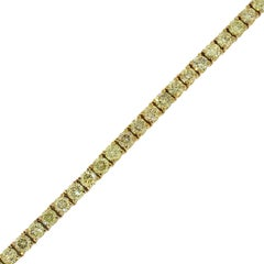Fancy Yellow Round Brilliant Diamond Tennis Bracelet