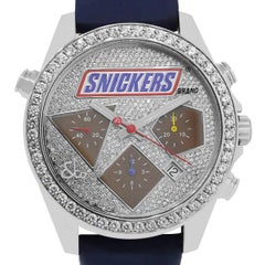 Jacob & Co. Stainless Steel Diamond Snickers Chronograph Automatic Wristwatch
